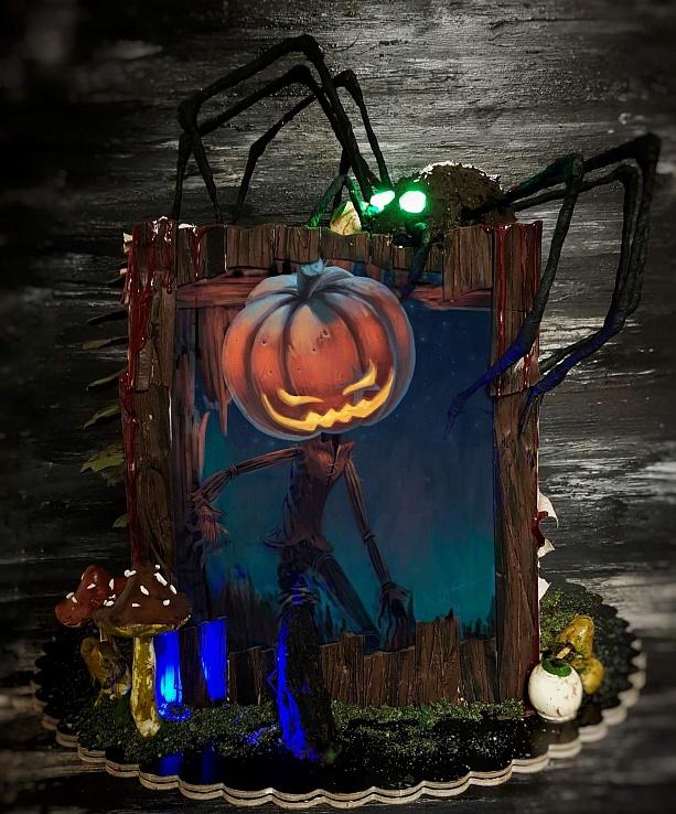 """Торт """"Счастливого хэллоуина"""""""